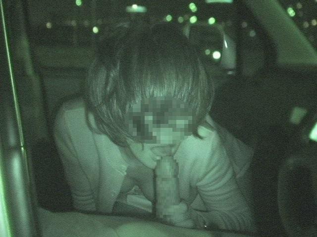ホストと女性客の赤外線カーセックス盗撮