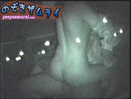 ホストと女性客の赤外線カーセックス盗撮 1
